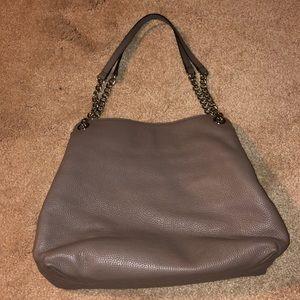 taupe colored purse